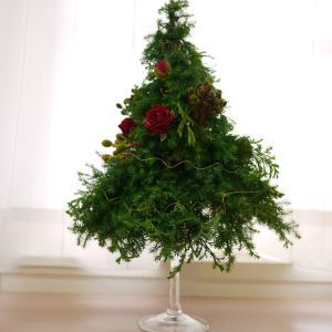 花ものがたりレッスン「クリスマスグラスツリー」