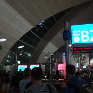 ドバイから関西国際空港へ