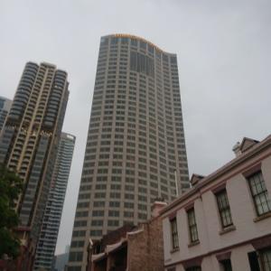 シャングリラホテルシドニーから世界三大美港シドニーハーバー を眺める