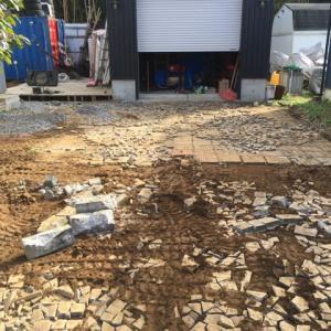 掘削 整地 型枠 コンクリート打設準備 2日目 茨城 つくばみらい市