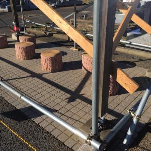 腐食した柱を モルタルで補強 茨城県 龍ヶ崎市