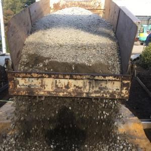 およそ200平米の コンクリート打設 準備 2日目 茨城県 牛久市