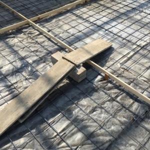 200平米に及ぶ コンクリート打設 1回目 茨城県 つくば市