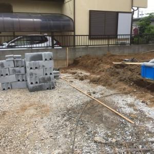夏を感じる 外構工事 2日目 茨城県 牛久市