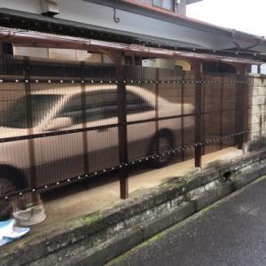 雨が続く スチールカーポートの 屋根張り替え 茨城県 取手市