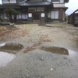 雨を避けたつもり 駐車場掘削作業 茨城県 取手市