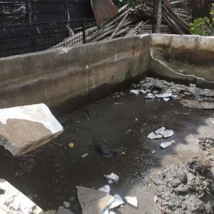 人工池を 解体処分する 茨城県 阿見町