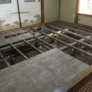 休業中を狙って 和室の床張り替え 茨城県 取手市
