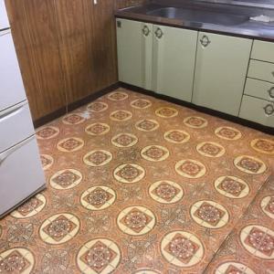 キッチンの床板 の張り替え 下地から 茨城県 龍ケ崎市