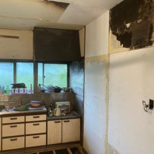 火災現場の復元作業 2日目 茨城県 龍ケ崎市