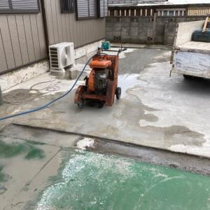 茨城県 龍ケ崎市 コンクリートを切り裂く