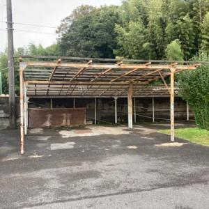 茨城県 取手市 スチール製車庫の解体