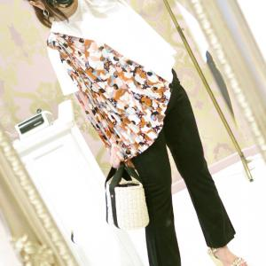 Lovely ショルダースカーフ Tシャツ・ホワイト