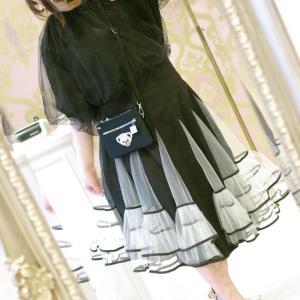 Lovely チュール スカート&お袖バルーン ベルベットおリボン トップス