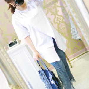 Lovely ホワイトロング Tシャツ