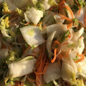 キムチの修行・・  ~野菜を漬ける順番~