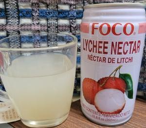 タイのライチ―ジュースはクリアで美味しかった。