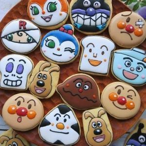 アンパンマンのアイシングクッキー