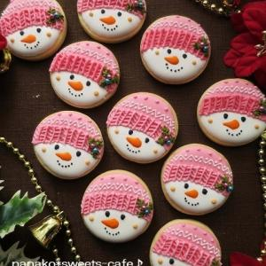 雪だるまアイシングクッキー