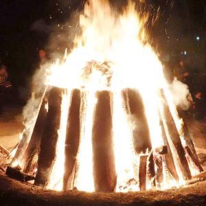 伊勢神宮の大かがり火。