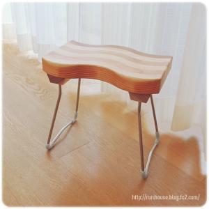 ■お手入れのしやすい木製バスチェア