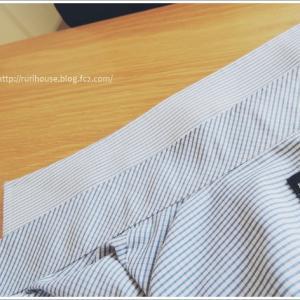 ■夫のYシャツをリメイク