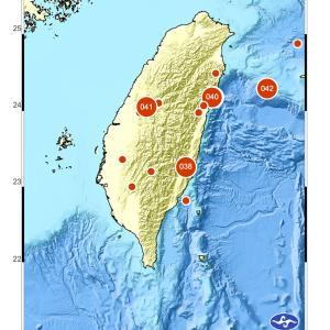 台湾東部でマグニチュード6.1の地震