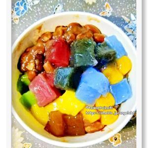 台湾で愛する至極のプルもち七色粉粿冰 白泡泡豆花專賣店