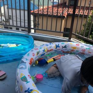 遊ぶ、遊ぶ、夏休み ⑥ 1人プール