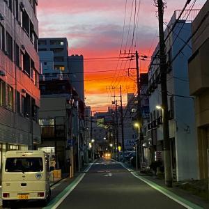 二丁目の夕日