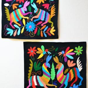 新商品入荷&アップ予定〜オトミの動物刺繍のクロス色々♪
