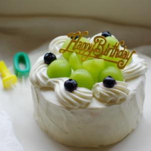 誕生日ケーキ(シャインマスカットのショートケーキ)