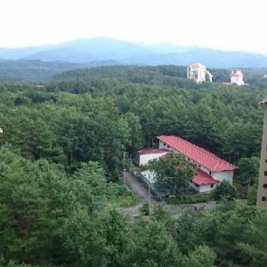 草津温泉のマンションからの眺め