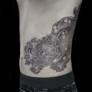 唐獅子 刺青