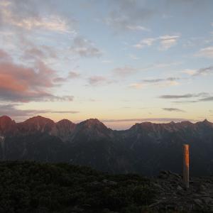 北アルプス展望の山、蝶ヶ岳~常念岳登山