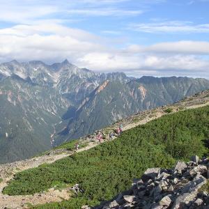 北アルプス展望の山、蝶ヶ岳~常念岳登山(2日目-1)
