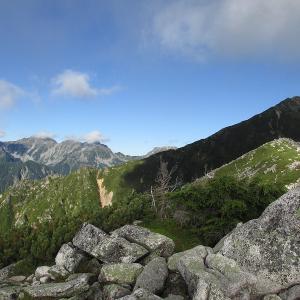 北アルプス展望の山、蝶ヶ岳~常念岳登山(3日目-2)
