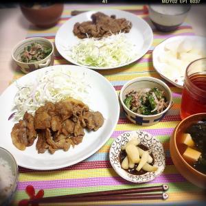 ■今日のランチ■豚の生姜焼き♪