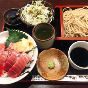 ■今日のランチ■マグロ丼とお蕎麦セット♪