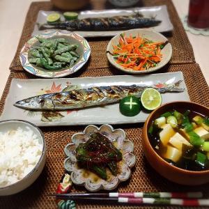 ■今日の晩ごはん■秋刀魚の塩焼き♪
