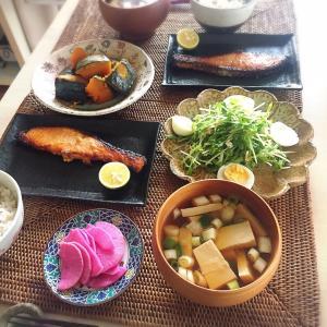■今日のランチ■鮭の西京漬け焼き♪