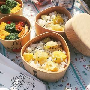■今日のお弁当■おむすび弁当箱で栗ごはん♪