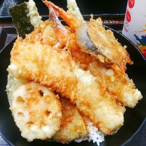 ■今日の昼・晩ごはん■天丼とお粥♪