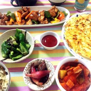 ■今日のランチ■ラタトゥイユで夏野菜消費ランチ♪