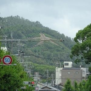 五山送り火 金閣寺。