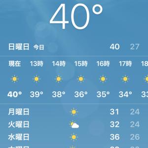 40℃ 暑すぎるっ!大汗