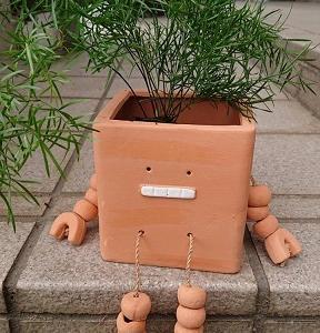 ロボットの植木鉢?ポット?をゲット~~♪(*^▽^*)