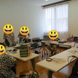 PPバンドのカゴバック編み編み教室~(^o^)/