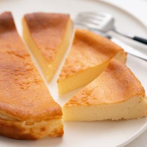 バスチーの応用で、ベイクドチーズケーキ♡