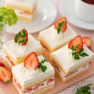 苺のスクエアショートケーキ♡レッスンレポ